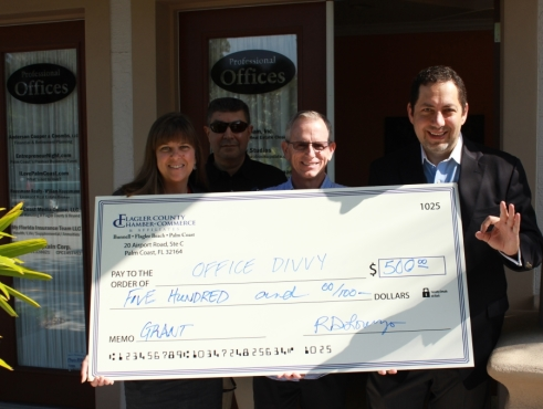 Office Divvy is the latest recipient of the Flagler County Chamber