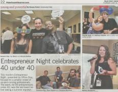 Entrepreneur Night Celebrates  40 under 40 Event