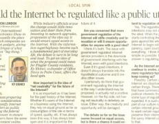 Should the Internet be regulated like a public utility?
