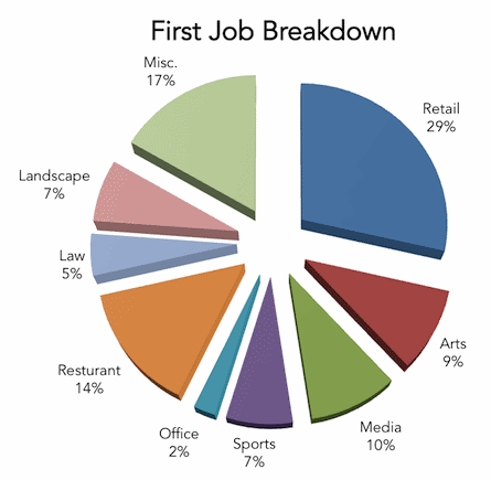 My-First-Job-Breakdown-3D-Pie-Chart